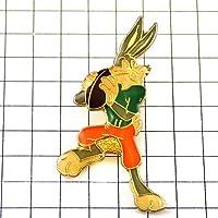 限定 レア ピンバッジ バックスバニー漫画アメフト選手ワーナーアニメWBうさぎ兎 ピンズ フランス