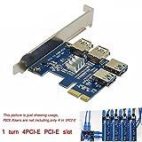 マイニング カード 採掘 4 カード 1 PCI-E ライザー アダプター ボード 1 ~ 4 Usb3.0 マイニング特別なライザー カード採掘効率 4 Tim 4PCI E の PCI-E スロットを回す (1 turn 4 PCI express)