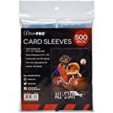 "Ultra PRO Clear Card Sleeves for Standard Size Trading Cards Measuring 2.5"" x 3.5"" (500 Count Pack)"