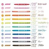 トンボ鉛筆 水性サインペン プレイカラードット 12色セット GCE-011 画像