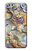 JP2584HP9 中国のドラゴンアート Traditional Chinese Dragon Art Huawei P9 ケース