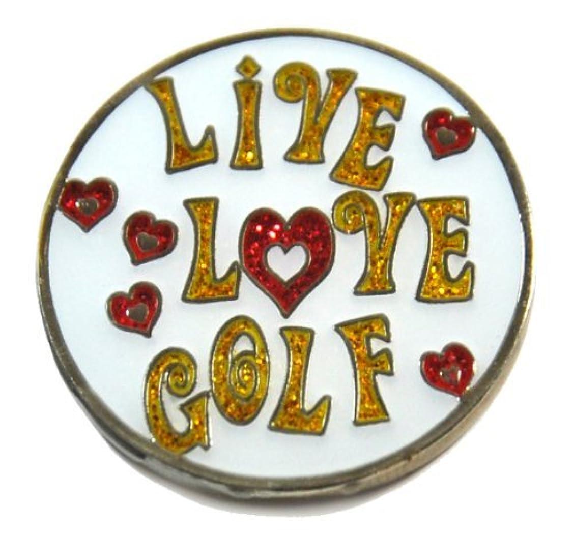 おめでとうマイナーNavika Live Love Golf Glitzy Ball Marker with Hat Clip [並行輸入品]