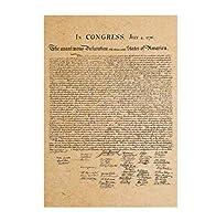 アメリカ独立宣言 ポスター オシャレな インテリアに レプリカ風 クラフト紙 ベッドルーム リビング 背景壁シールRUI-043964