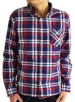 (アーケード) ARCADE 5color メンズ 春 シャツ 長袖シャツ ワイヤー入り チェックシャツ