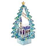 サンリオ クリスマスカード 洋風 立体 ツリーの中に教会  S6188