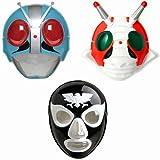 お面 仮面ライダー1号&V3とショッカーの3種セット コスプレ 仮装 コスプレ道具 覆面 マスク 祭