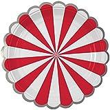 8PCペーパープレートケーキディッシュパーティーのテーマ用品 - A1