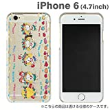 iPhone6 ケース カバー 水森亜土 iPhone 6 / 4.7 インチ キャラクター クリアケース ハードケース / フラダンス