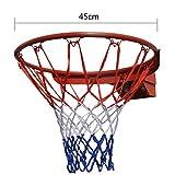 IKENOKOI バスケットゴール バスケットリング ネット付き セット 内径45cm 公式サイズ(レッド)
