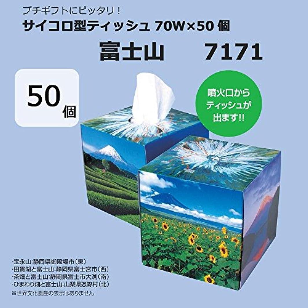 口径一過性長椅子日用品 玩具 関連商品 サイコロ型ティッシュ70W×50個 富士山 7171