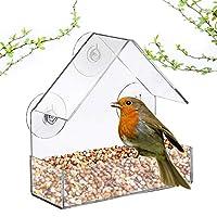 アクリル透明鳥リスフィーダートレイ巣箱ウィンドウサクションカップマウント