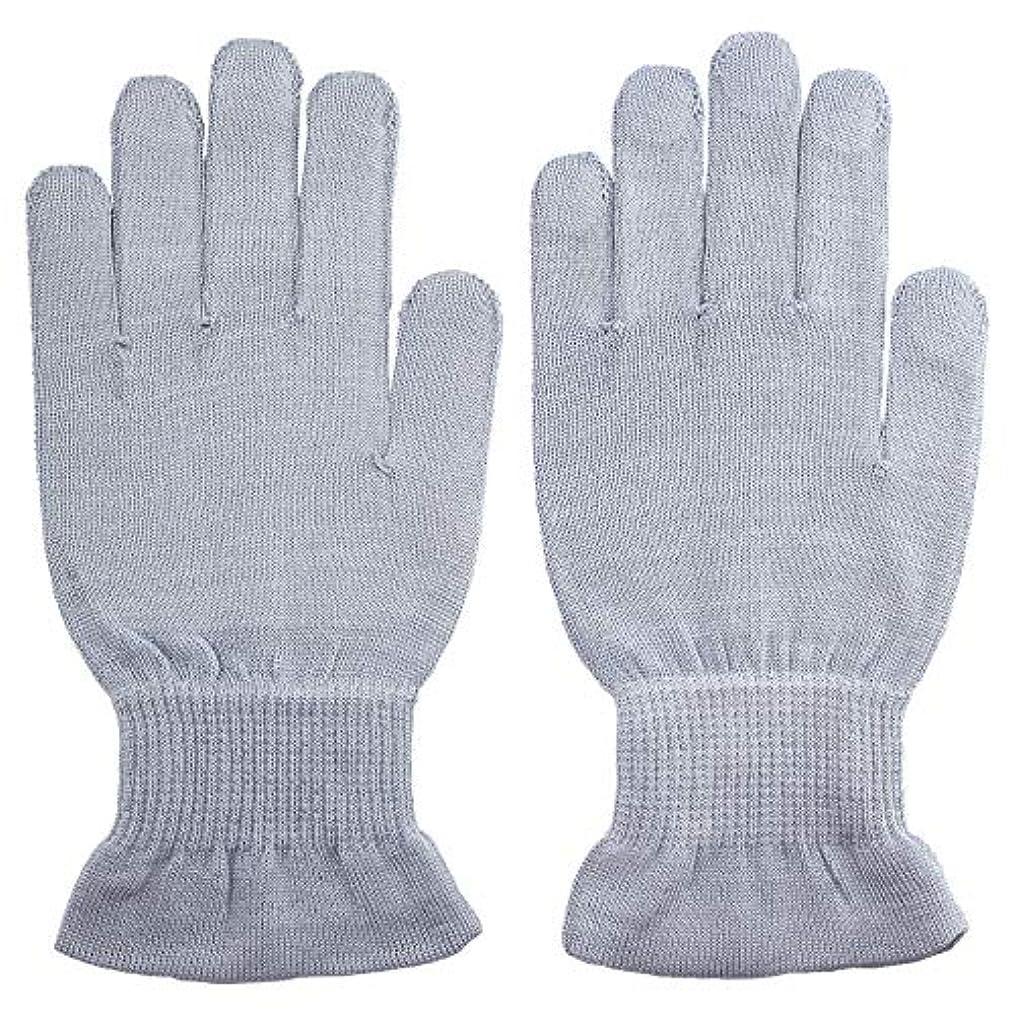 窓を洗うスパン電球温むすび ハンドケア手袋 【手のひら美人 女性用 M~Lサイズ ペールブルー】