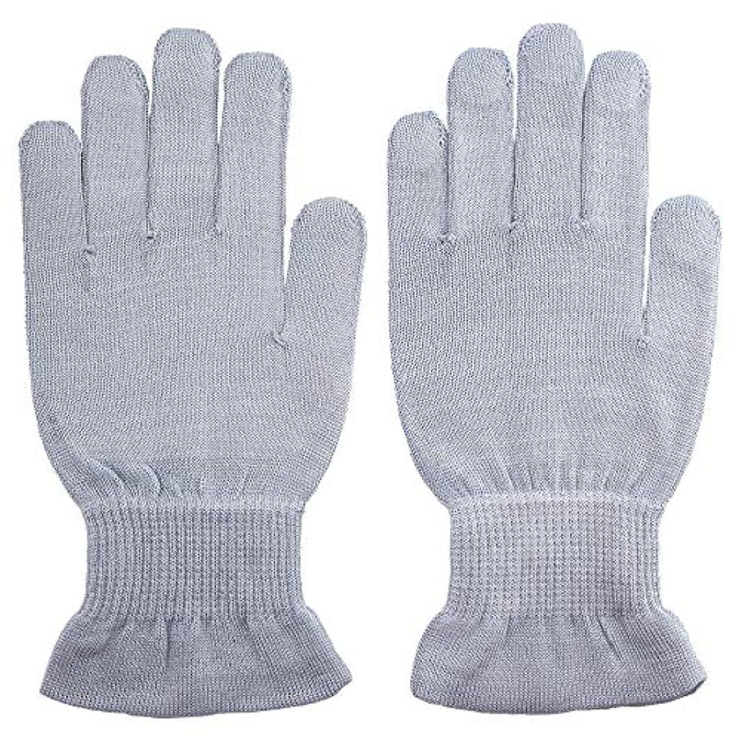マキシムバクテリアむちゃくちゃ温むすび ハンドケア手袋 【手のひら美人 女性用 M~Lサイズ ペールブルー】