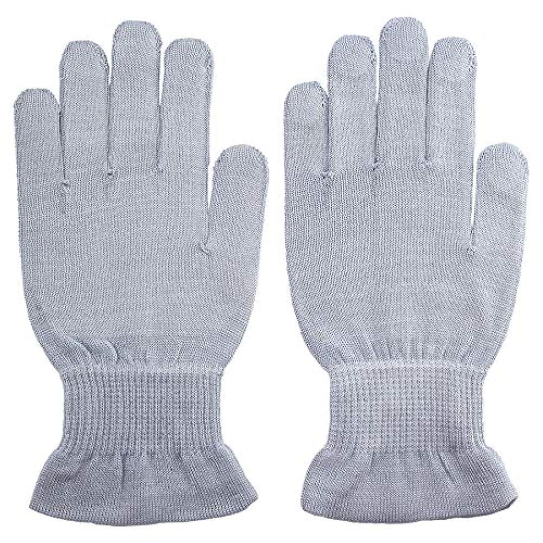 頬骨療法睡眠温むすび ハンドケア手袋 【手のひら美人 女性用 M~Lサイズ ペールブルー】
