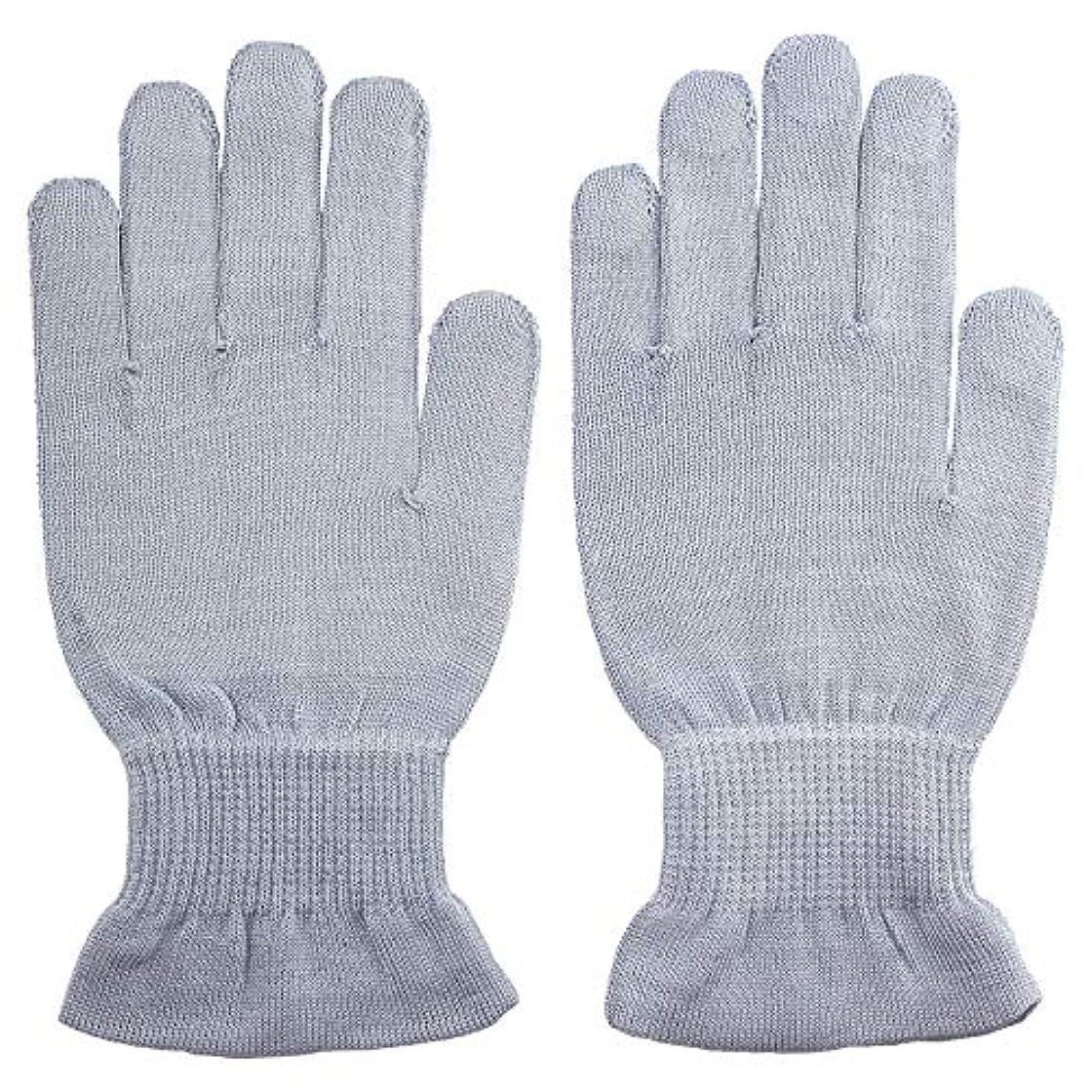 豪華な墓地試み温むすび ハンドケア手袋 【手のひら美人 女性用 M~Lサイズ ペールブルー】