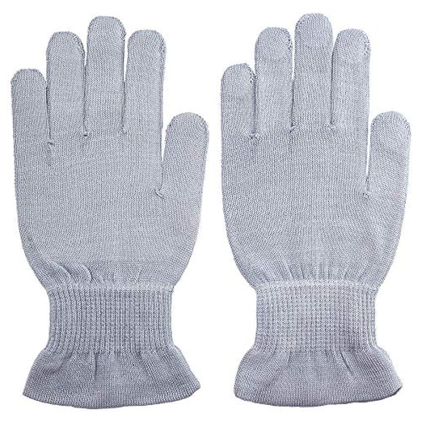表現穿孔するテーマ温むすび ハンドケア手袋 【手のひら美人 女性用 M~Lサイズ ペールブルー】