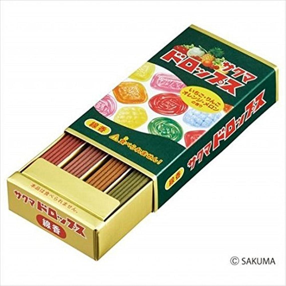 リングレット袋ぴかぴかkameyama candle(カメヤマキャンドル) サクマドロップスミニ寸線香(23000008)