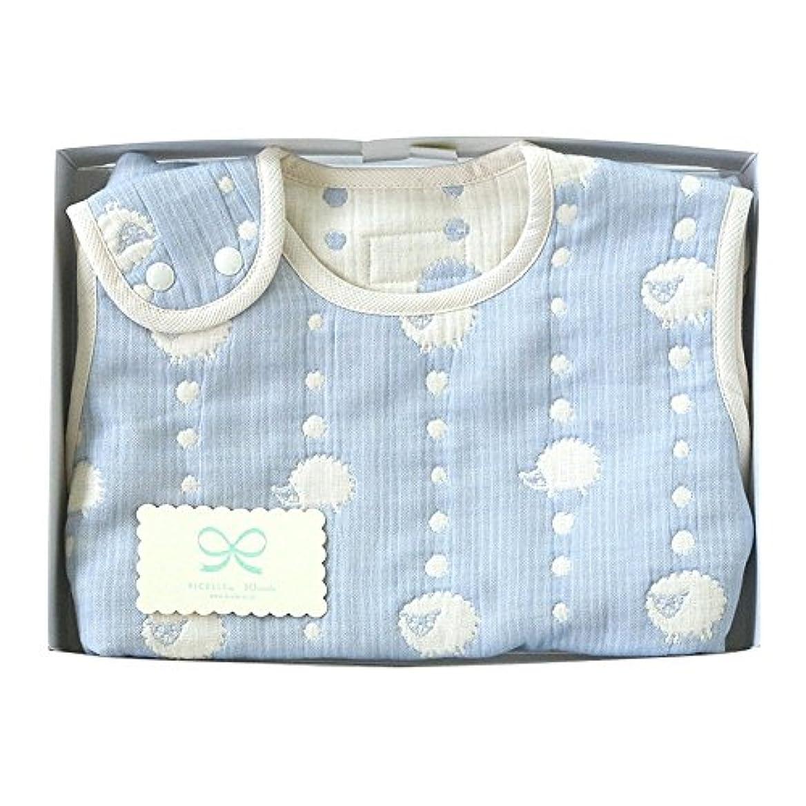 ローラータクトエッセイHoppetta 6重ガーゼ スリーパー ギフトセット ブルー (ベビーサイズ) 18111038 赤ちゃん