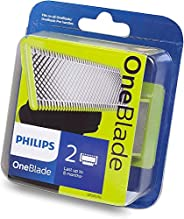 Philips OneBlade Replacement Blade for Trim, Edge & Shave, 2 Pack, Lime, QP22