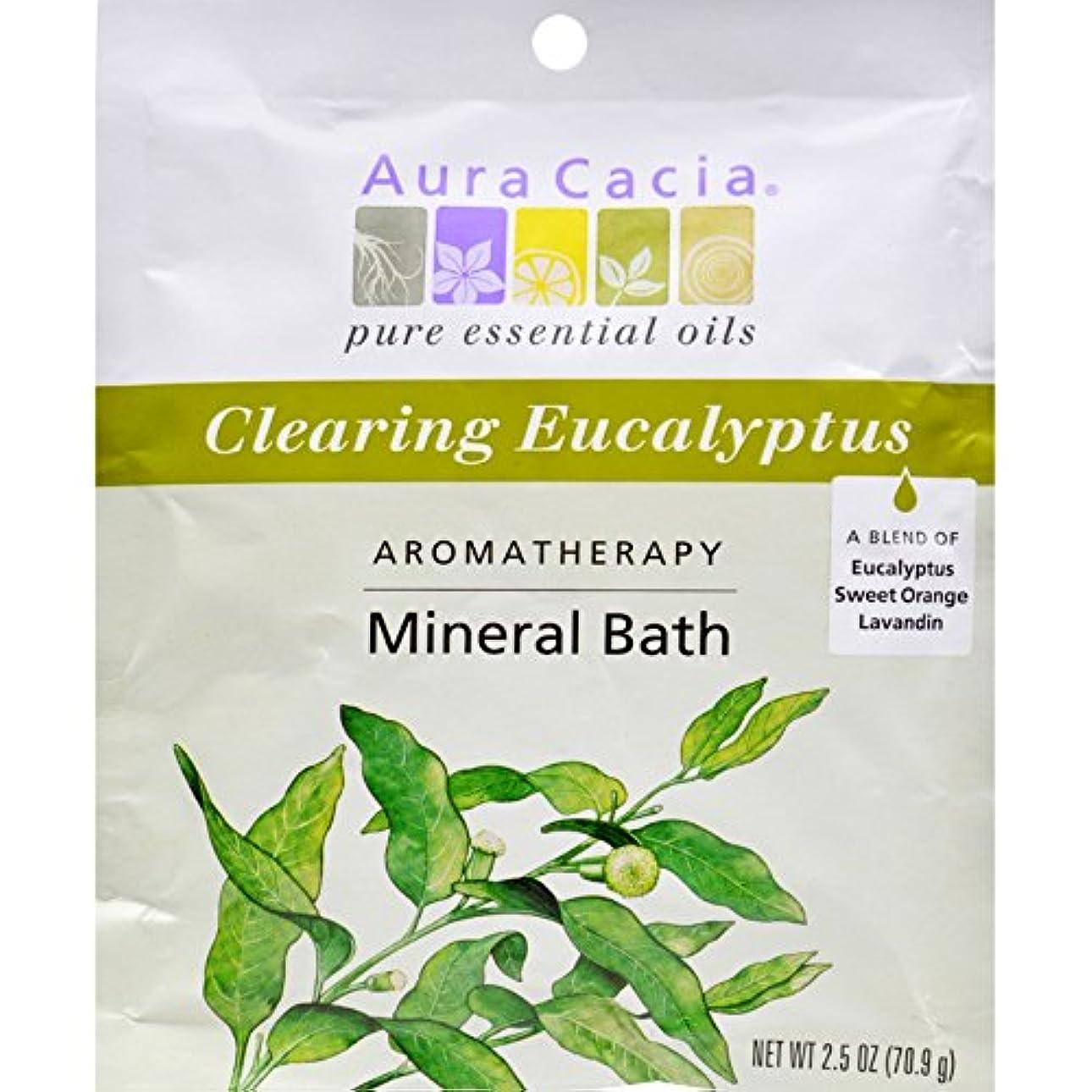硬いマッサージブレスAura Cacia, Aromatherapy Mineral Bath, Clearing Eucalyptus, 2.5 oz (70.9 g)