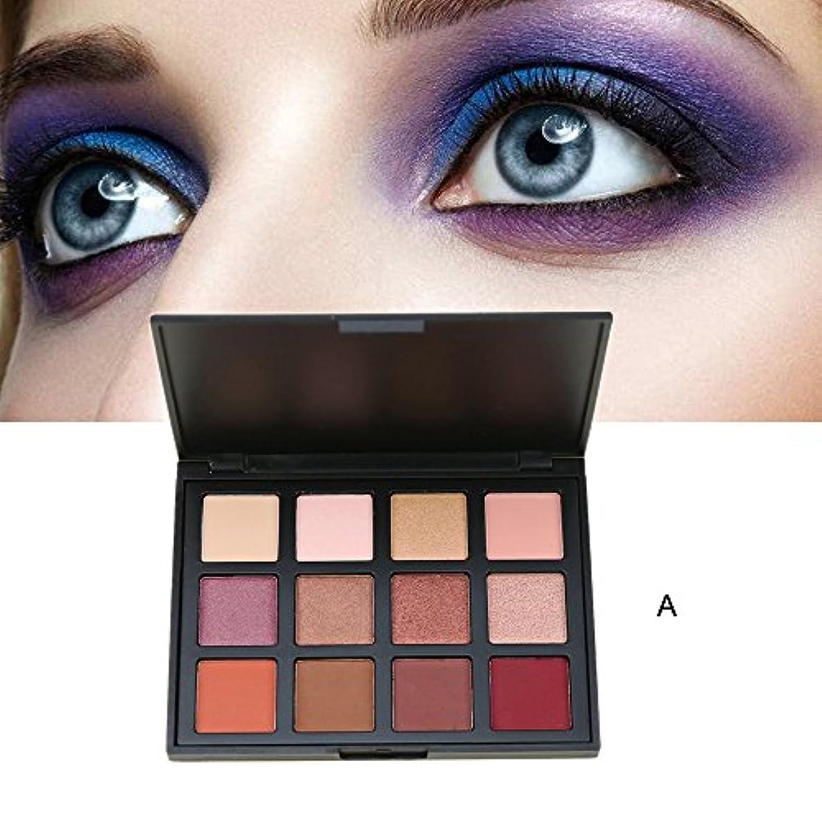 のり仮定、想定。推測好意Akane アイシャドウパレット Sherffy ファッション 人気 アースカラー 真珠光沢 気質的 ルネッサンス 綺麗 マット 魅力的 チャーム 防水 長持ち おしゃれ 持ち便利 Eye Shadow (12色)