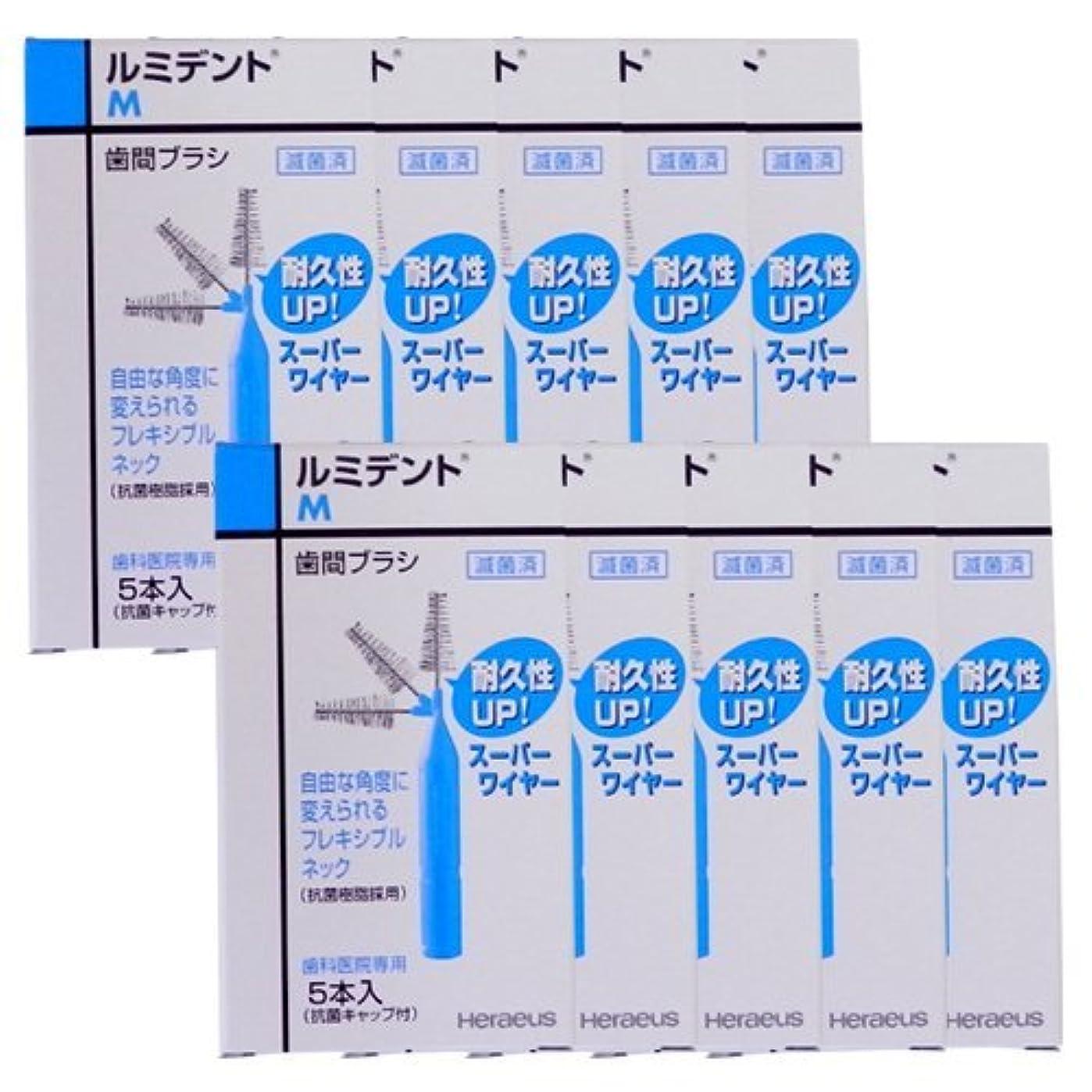農業合理化テラスヘレウス ルミデント 歯間ブラシ 5本入×10個 M ブルー