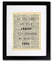 Regret Chances We Didn't Take Quote Dictionary Art Print - Vintage Dictionary Print 8x10 inch Home Vintage Art Wall Art for Home Decor Wall Decorations For Living Room Bedroom Office Ready-to-Frame [並行輸入品]