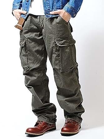 リアルクラッシュクロージング (REAL CRUSH CLOTHING) ヴィンテージ カーゴパンツ (M, A/GREEN)