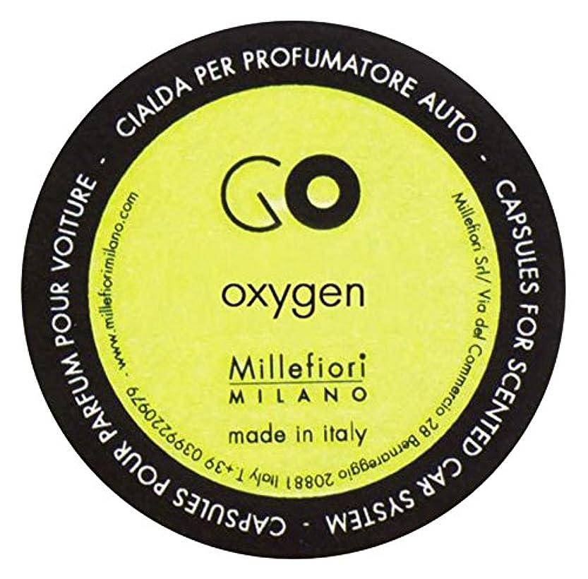 見る寝室常識Millefiori カーエアフレッシュナー GO レフィル オキシゲン 1pcs RGOX