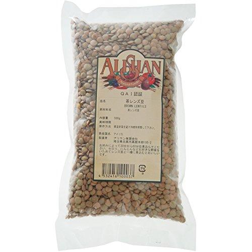 アリサン 茶レンズ豆 500g