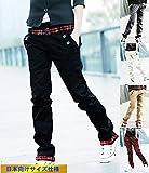 (SGL Collection) チノ パンツ メンズ チノパン ロングパンツ デザイン ロールアップ 裾 チェック 柄 カジュアル ストリート ボトムス ボトム チノ 3B おしゃれ きれいめ サロン系 LEON系 コーディネート スタイリッシュ リゾート (M, ベージュ 薄茶)