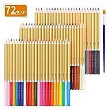 TOPERSUN 色鉛筆 72色セット 水溶性 水彩色鉛筆 色鉛筆セット ...