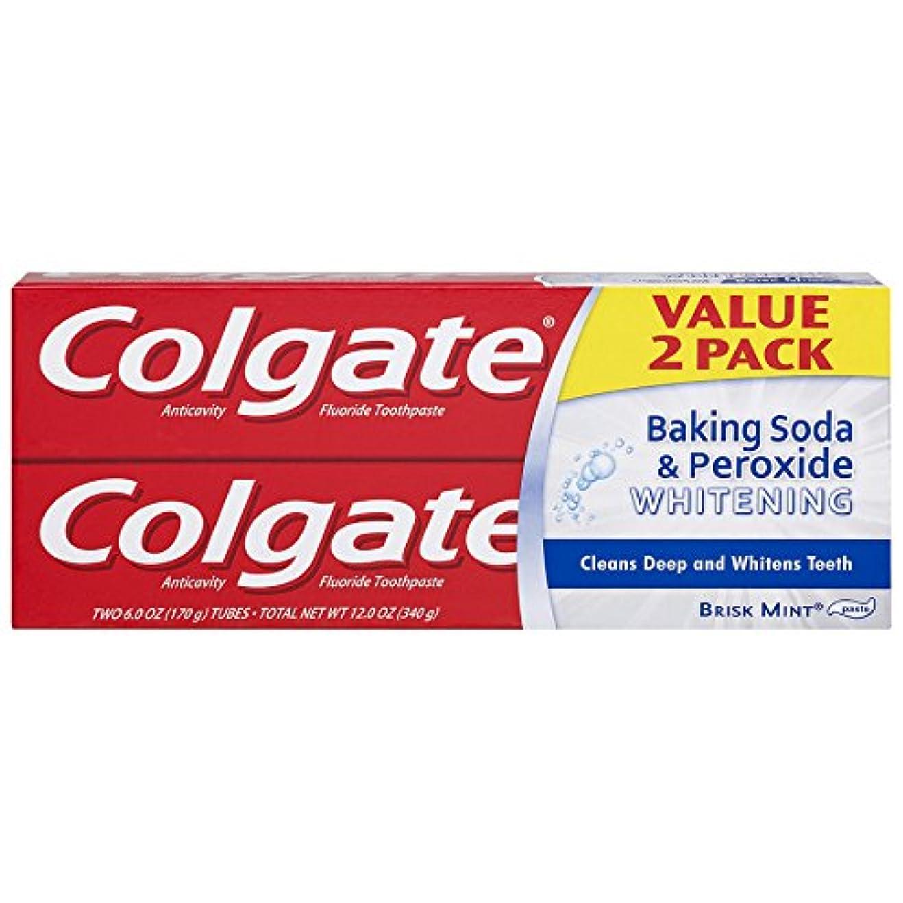 仲良し遊具列車Colgate 重曹と過酸化物ホワイトニング歯磨き - 6オンス(2カウント)