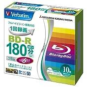 三菱ケミカルメディア Verbatim 1回録画用 BD-R VBR130RP10V1 (片面1層/...