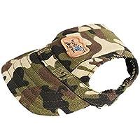 ligangam ペット用品 犬 ワンちゃん用 野球帽 帽子 小型犬 中型犬用 3色 サイズS/M 大人気 (M, 迷彩)
