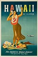 Pan Am–ハワイヴィンテージポスター(アーティスト: Atherton ) USA C。1948 9 x 12 Art Print LANT-64235-9x12