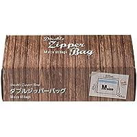 【Amazon.co.jp限定】ダブルジッパーバッグ Mサイズ 65枚×2個パック