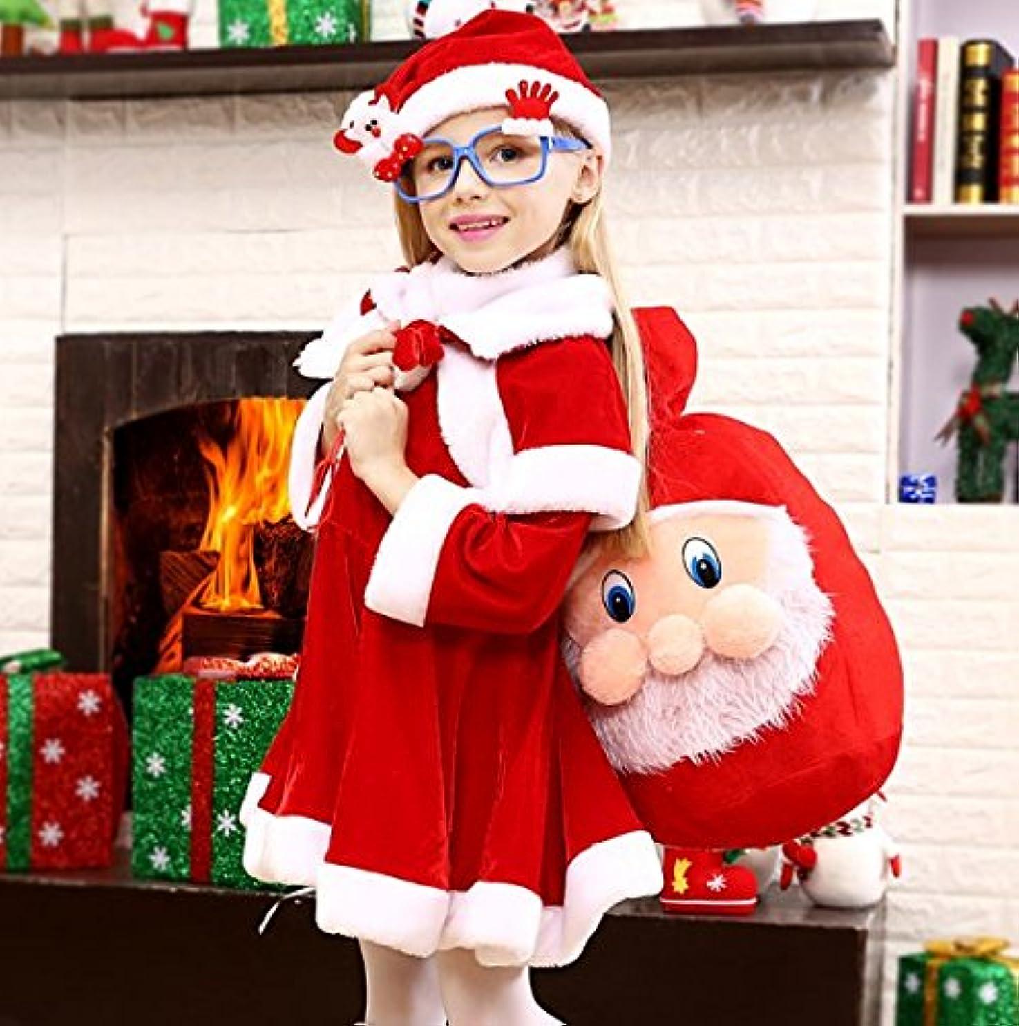 効能乗り出すニュース[Dot-RIce ] サンタ コスプレ衣装 サンタ 衣装 子供 サンタ コスチューム キッズ 子供服 サンタクロース 帽子付き 女の子 男の子 ロンパース ワンピース ポンチョ クリスマス 衣装 キッズ クリスマスソックス クリスマスバッグ 赤ちゃん ベビー 着ぐるみ (150)
