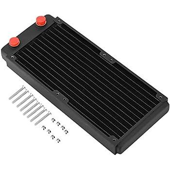 Fosa 銅放熱器ヒートシンク コンピュータ水冷却液体熱交換器 水冷式ラジエーター 冷却熱交換器ラジエータ(240mm)