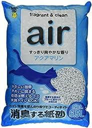 スーパーキャット 猫砂 NEW air消臭する紙砂 アクアマリン 6.5L