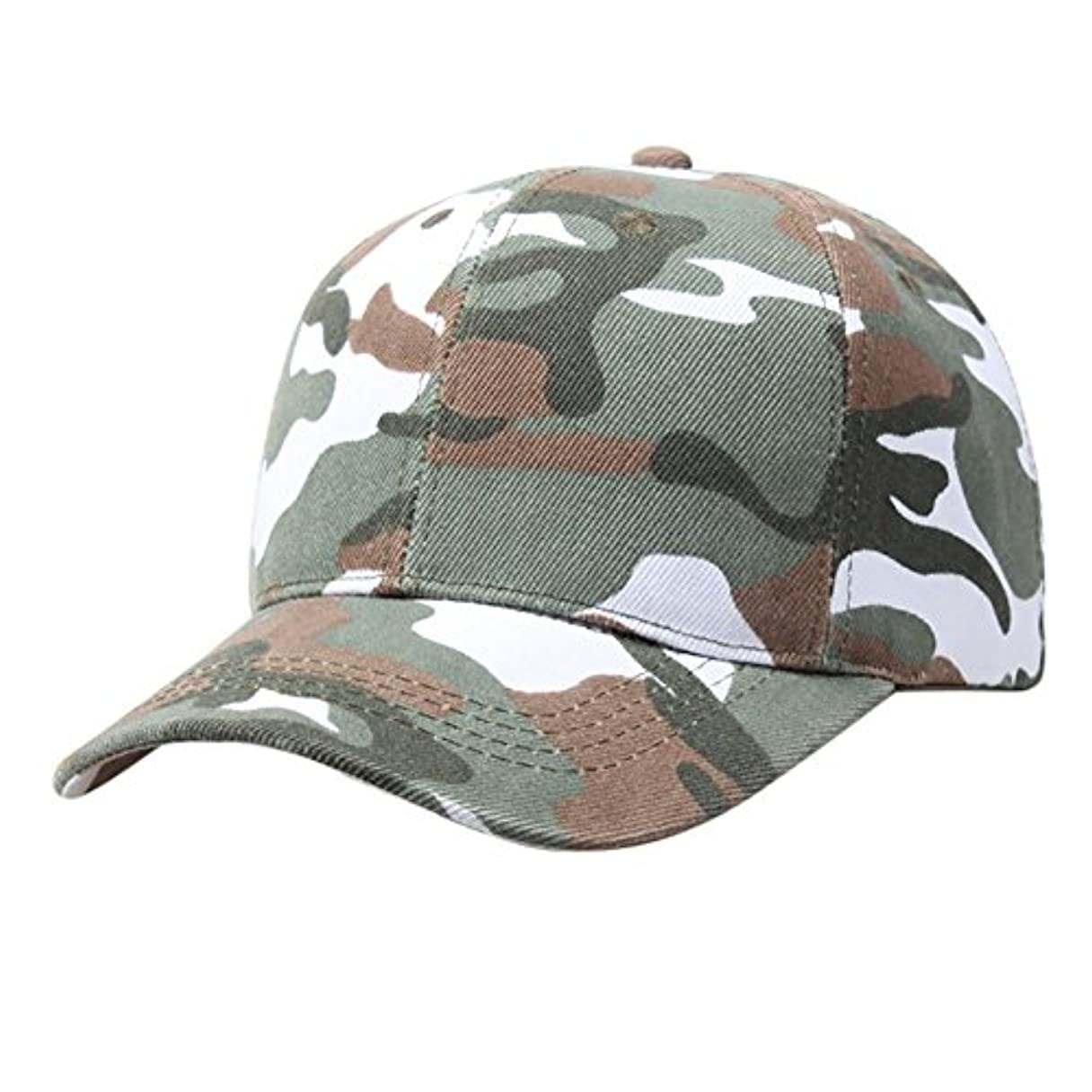 驚かす処理ポップRacazing Cap 迷彩 野球帽 軍用 通気性のある ヒップホップ 帽子 夏 登山 緑 可調整可能 棒球帽 男女兼用 UV 帽子 軽量 屋外 カモフラージュ Unisex Cap (緑)
