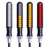 フェリモア シーケンシャルウインカー バイク ライト LED オートバイ ウィンカー ランプ (4個セット)