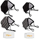 ATTICA 2 Pack Adult丨 2 Pack Child Cotton Face Mask Reusable Washable With 20 Filters