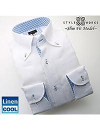 (スタイルワークス) メンズ長袖ワイシャツ | 白