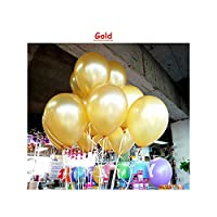 10個入りバースデーバルーン10インチ1.5Gラテックスヘリウム風船肥厚パールパーティーバルーンパーティーボールキッド子供のおもちゃ結婚式風船、Gold3