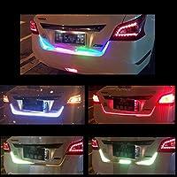 HMT 【エイチエムティー】新型流れる12V車用 5050 RGB LEDテープライト リアゲート テープ 流れるウインカー ・ テールランプ ・ ブレーキランプ・ハザードランプ 車内装飾用 テープランプ 防水仕様 120cm 1本
