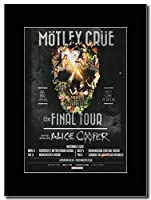 - Motley Crue - The Final Tour UK Dates 2015 - London Sold Out !!!. - つや消しマウントマガジンプロモーションアートワーク、ブラックマウント Matted Mounted Magazine Promotional Artwork on a Black Mount