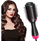 AU Plug One Step Hair Dryer and Volumizer Multifunctional Oval Blower Hot Air Paddle Styling Brush Negative Ion Generator Hair Straightener Curler Comb for All Hair Types