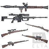 リアル 世界大戦 1/6スケール 組立式 武器模型 6種類 セット フィギュア モデル ミリタリー G43 SVT-40 RPG-7 CM 200 三八式 歩兵銃 K98