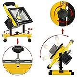 KAWELL 充電式 作業灯 キャンプ ランタン 釣り用 車の修理用 LED投光器 20w 広角 昼光色 1年品質保証 画像